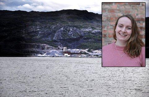 SKAMMELIG: - Det er skammelig at kystnasjonen Norge lar gruveselskaper dumpe avfallet sitt i fjordene, og en totalt uakseptabel industripraksis. Vi kommer til å gjøre det vi kan for å stanse dette prosjektet, og lenker oss fast om vi må, sier Ingrid Skjoldvær, leder i Natur og Ungdom, ifølge en pressemelding.