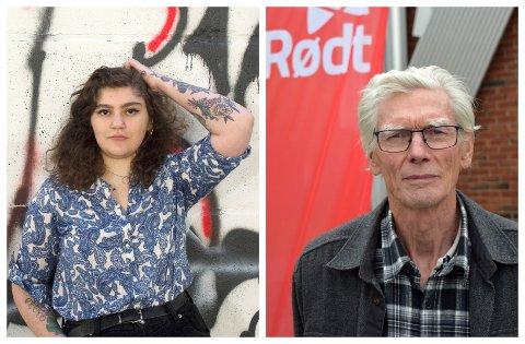 ERSTATTES: – Jeg vil be om permisjon om jeg blir valgt inn i kommunestyret, opplyser Frida Ropphaugen (22). Tor Sundheim (75) blir i praksis førstekandidaten til Rødt i Vestre Toten.