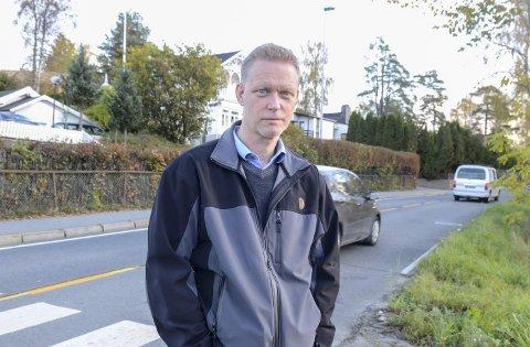 Er i mål: Avdelingsleder Kristian Larsen har hatt mange runder om bredden på den utvidede Kirkeveien.