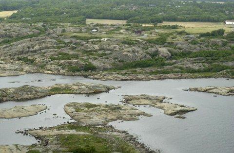 Rakke skytefelt. Flyfoto fra august 2001