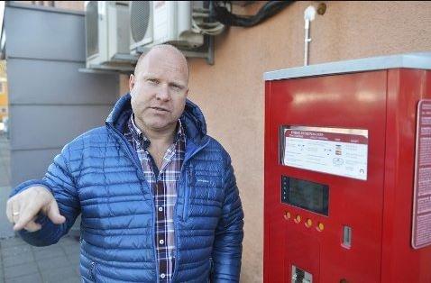 FIKSET: Daglig leder Andreas Evensen i parkeringsselskapet Micasa mener systemet nå er justert og i orden.