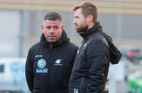 KIL-KLAR: Antonio Martins Silva (til venstre) er KILs nye assistent-trener. Her er han sammen med FK Haugesunds trener Eirik Horneland. (Foto: Alf-Robert Sommerbakk, Haugesunds Avis)
