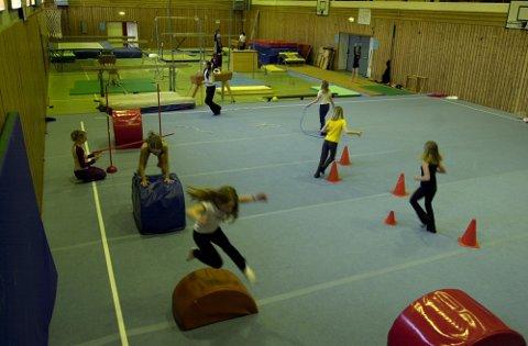 AKTIVITET: Noe av turnutstyret i Messehallen som Elverum kommune vil overta.