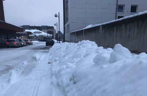 MER SNØ: Ingen vår i sikte i Hedmark, enn så lenge.