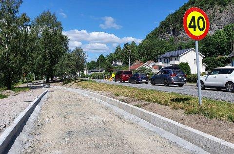 SLUTT PÅ KØ: Lysreguleringa på Herøyavegen tar ferie.