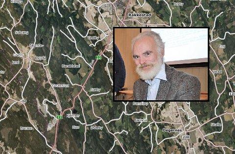 EKSPERT: Tom Schmidt er stedsnavnprofessor og en av landets fremste navneforskere. Han skal utgi bok om stedsnavn i Rakkestad.