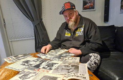 BARNDOMSMINNER: Snurre Svendsen (37) har opplevd brann flere ganger. Den først opplevde han i Rakkestad da han var bare tre år gammel.
