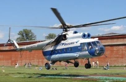 MI 8: Det var et helikopter av denne typen, et MI 8 HIp-C, som styrtet utenfor Barentsburg torsdag ettermiddag. Åtte personer var om bord. Foto: Are Medby