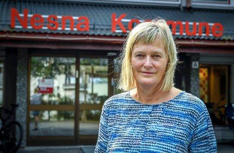 Ordfører Hanne Davidsen ønsker seg romsligere rammer for kommunens drift - men her og nå er nedbemanning tvingende nødvendig.