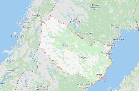 Västerbottens län har totalt 468 smittede.