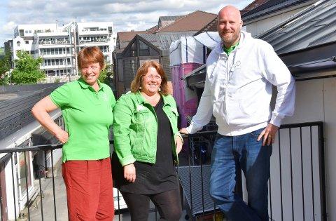 NEST STØRST OG STØRST: Senterpartiet er det nest største partiet i Ringsaker målt i oppslutning, og det klart største opposisjonspartiet. Fra venstre: Kjersti Røhnebæk, Trude Hustad og Odd-Amund Lundberg.
