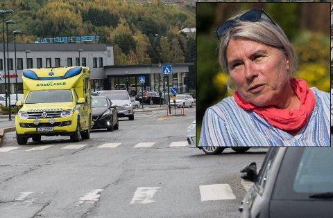 VITNE: Her i krysset Storgata-Sundgata skjedde ulykken torsdag formiddag. Kirsten Orebråten var en av de første på stedet.
