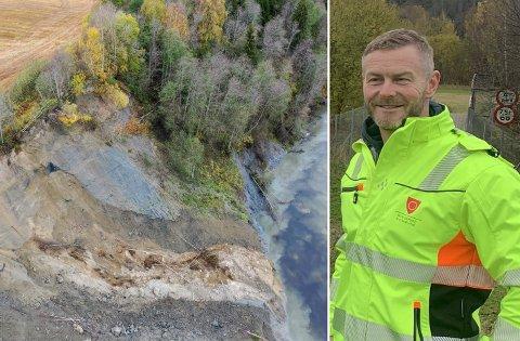 ADVARER: Magnus Nilholm, beredskapsleder i Ringerike kommune, sier kommunen er forberedt på at det vil komme flere ras i Hovsenga.