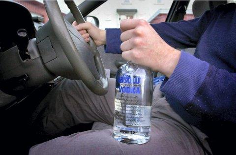 MED PROMILLE: Mannen innrømmet å ha drukket vodka natten i forveien.