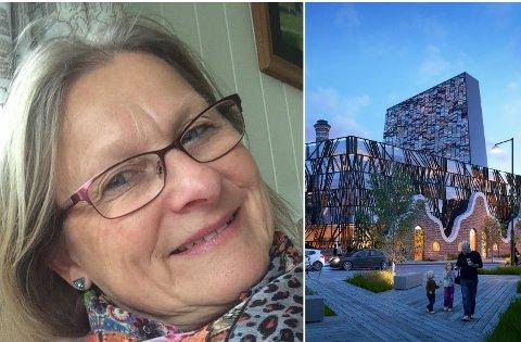 UNNSKYLD: – Hvis bygningene snakker sammen, sier de «unnskyld at jeg er til», mente Gro Marie Ridderhus om Lloyds Marked.