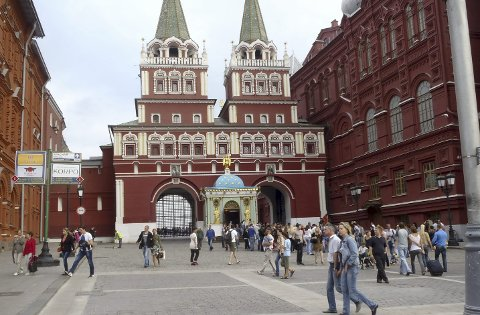 Den røde plass i Moskva.