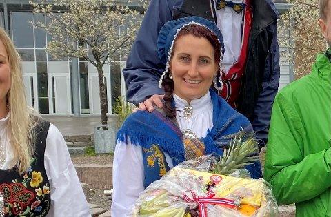 Karianne Skrimstad Jensen fra Kjeller arrangerte leker i nabolaget.