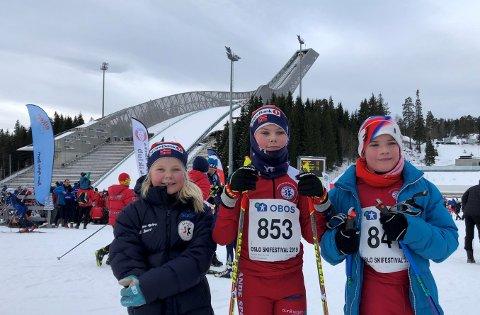 Fornøyd: Kristiane Sundve, Hans Øyvind Sundve og Kristian Glad var fornøyde.