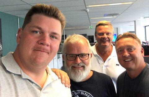 SA-PODDEN: Patrick Walther Larsen, Øistein Veberg, Bjørn Inge «Bingen» Nilsen og Petter Kalnes.