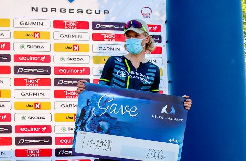 VANT: Lørdag vant Trym Bjørner Westgaard Holther fra Askim norgescup for juniorer på sykkel.