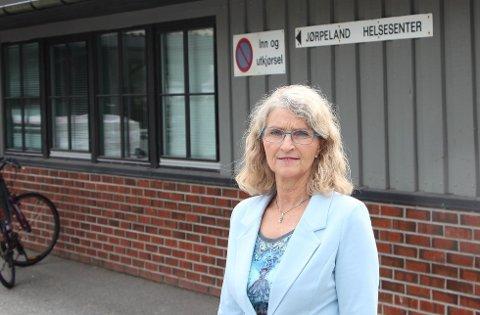 EN SØKER: - Vi har en søker til stillingen som kommuneoverlege, opplyser helsesjef Grete Strømsmo.