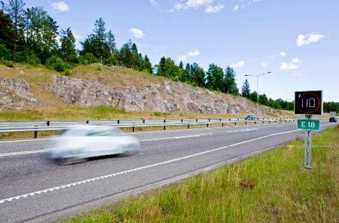 RUSKJØRING: Det var den 25. oktober i 2017 at 24-åringen fra Midt-Telemark ble tatt for ruskjøring på E18 i Larvik.