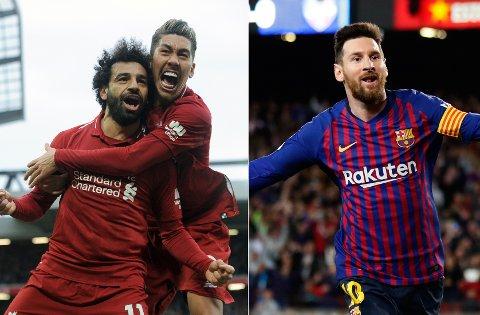 STJERNEFEST: Barcelona og Liverpool møtes i Spania onsdag kveld. Semifinalen kan du se sammen med 600 andre på Parkbiografen i Skien.