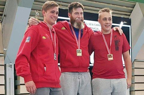 Sander Reiten (til venstre) og Christian Olsen (i midten) gjorde sine saker bra i NM.