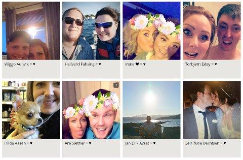 Et lite utvalg av dem som har fått valentinsdagshilsen på tk.no - så langt.