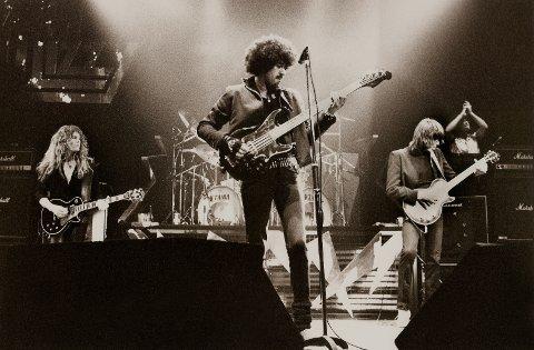 Thin Lizzy, her på scenen i Manchester Apollo i 1983, er journalist Arne Lysnes første konsertopplevelse.
