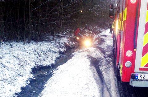 Ulykken skjedde på Kopstadveien på veien mot Svinevoll, noen hundre meter før Bibomyra.