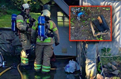 BRANN: En trekasse tok fyr etter at en komfyr hadde blitt slått på med et uhell.