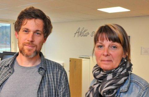 FÅKLAGER:Barnehagerådgiver Thomas Jahnsen og enhetsleder Anette Juul Pedersen.