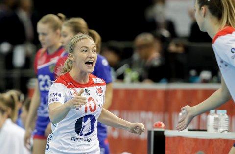 VERDENS BESTE: Stine Bredal Oftedal ble sommeren 2020 kåret til verdens beste kvinnelige håndballspiller for 2019. Her jubles det under bronsefinalen mellom Norge og Russland (33-28) i Kumamoto i Japan.