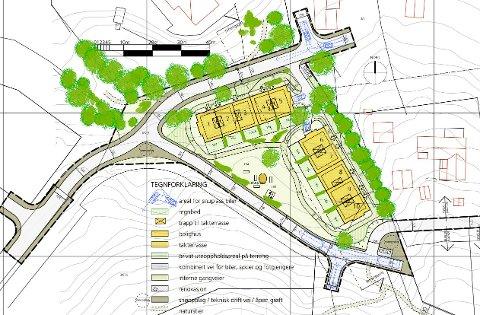 P-HUS: Skyset Utbygging AS vil bygge to nye rekkehus på Skyset Skog, like over Skyset Fus barnehage. De to rekkehusene med til sammen ti boliger vil få egne garasjehus.