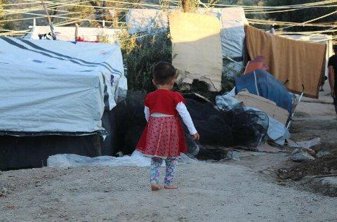 HÅPLØST: Flyktningene på Lesvos lever under elendige forhold.