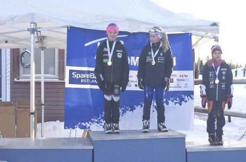 Delte: Mia Minge Johannesen vant på Budor, men måtte dele førsteplassen sammen med Emilie Ruud Lia. Foto: NIF ski