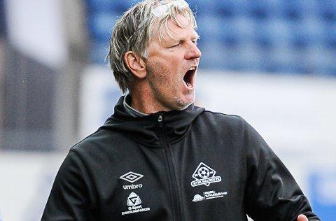 STERKE TALL: Kent Bergersen har gjort Kvik Halden til et vinnerlag - også i 2. divisjon. Nå åpner treneren for å bli i Halden.