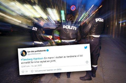 SKAPER REAKSJONER: De fleste Twitter-meldinger fra politiet i Sør-Øst går relativt ubemerket hen. Det var ikke tilfellet med denne.