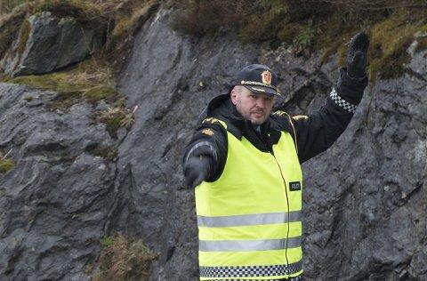 UP-sjef på Vestlandet, Terje Oksnes. Bildet er tatt i forbindelse med en annen kontroll.