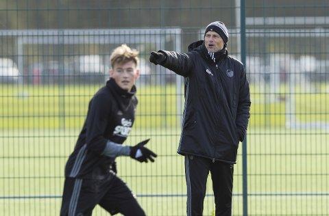 Ståle Solbakken på treningsfeltet til FCK i København. Foto: Vidar Ruud (NTB scanpix)