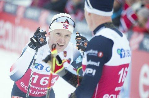 Vebjørn Turtveit fra Voss gikk inn til en knallsterk 12.-plass i verdenscupen på Lillehammer lørdag, og melder seg dermed på i kampen om å få gå mer verdenscup. Foto: NTB Scanpix