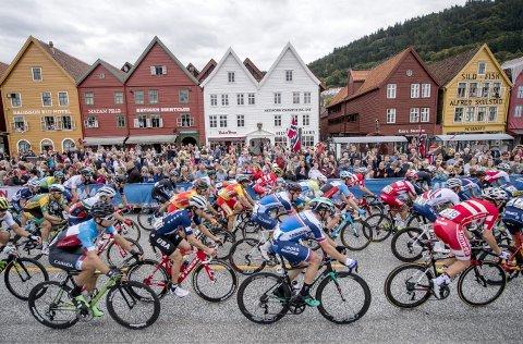 Underveis i VM var det høye tall på byens sykkeltellinger, men effekten var kortvarig.