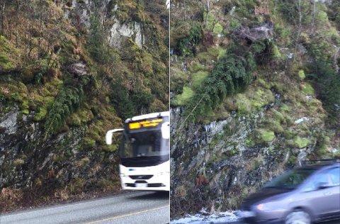 Bildet til venstre ble tatt 11. mars. Det til høyre ble fotografert 17. januar.