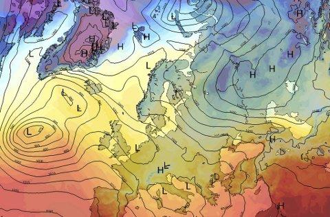 Den russike kulden gjør at vi får finvær denne helgen. Mandag er det dessverre slutt på sol og skyfri himmel.