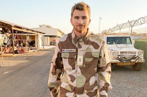 LANGT HJEMMEFRA: Vebjørn Seljord fra Eggedal tjenestegjør i julen i FNs fredsbevarende styrker i Mali, Afrika.