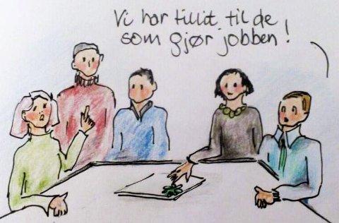 TEGNING: Solveig Lysaker