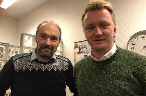 Hans Paul Hansen, direktør i Scandic Nordkapp (t.v.) og talsperson for Scandic Nordkapp Håkon Knudsen (t.h.).