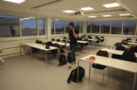 Undervisningsrom: Eitt av dei tre undervisningsromma i «Studentkvartalet». Dette har utsikt nord og vestover.