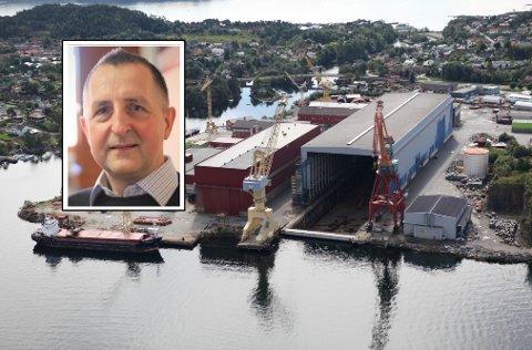 KONSEKVENSAR: Verftsdirektør Trygve Solaas, er klar på at ei nedstenging av verftet i Florø vil ha store konsekvensar både for verftet og for kundane deira.